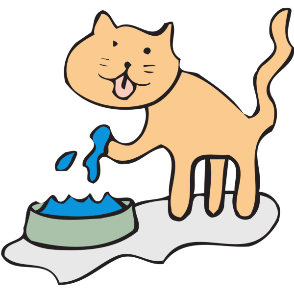 Cat Drinking PNG Clip art