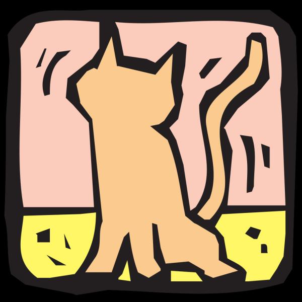 Stylized Cat Art PNG Clip art
