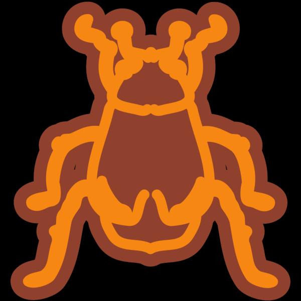 Stylized Beetle Art PNG Clip art