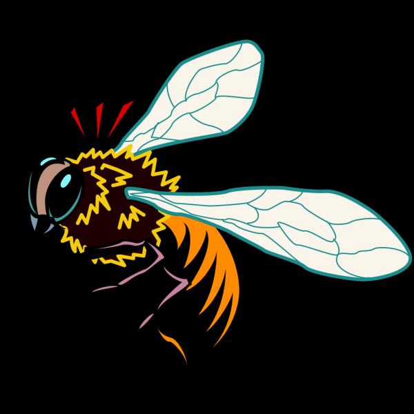 Stylized Bee Art PNG Clip art