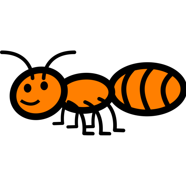 Walking Orange Ant PNG Clip art