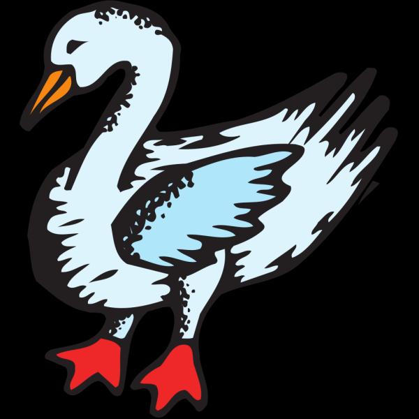 Stylized Blue Goose PNG Clip art