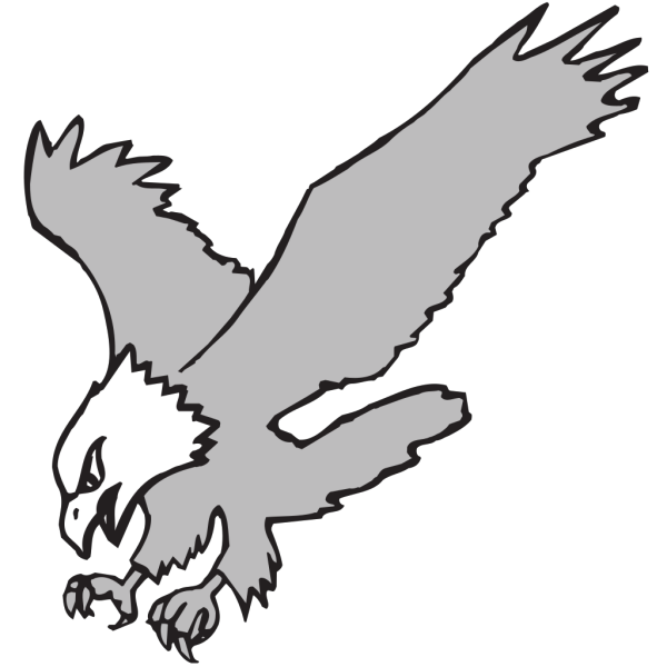 Grayscale Hunting Eagle PNG Clip art