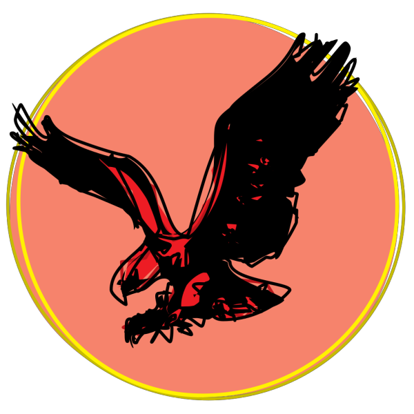 Eagle Scribble With Sun PNG Clip art