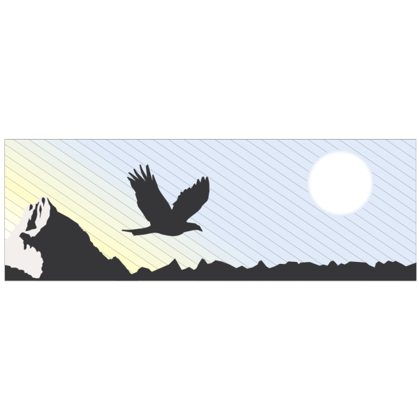 Eagle Flying In The Mountains PNG images