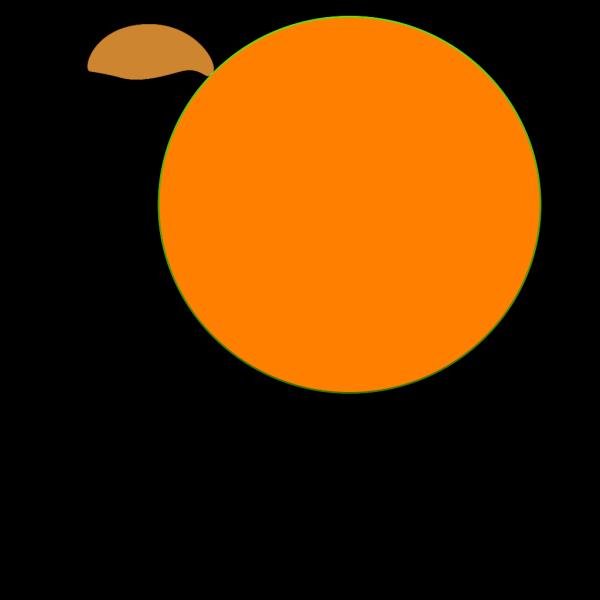 Orange Feathered Bird PNG Clip art