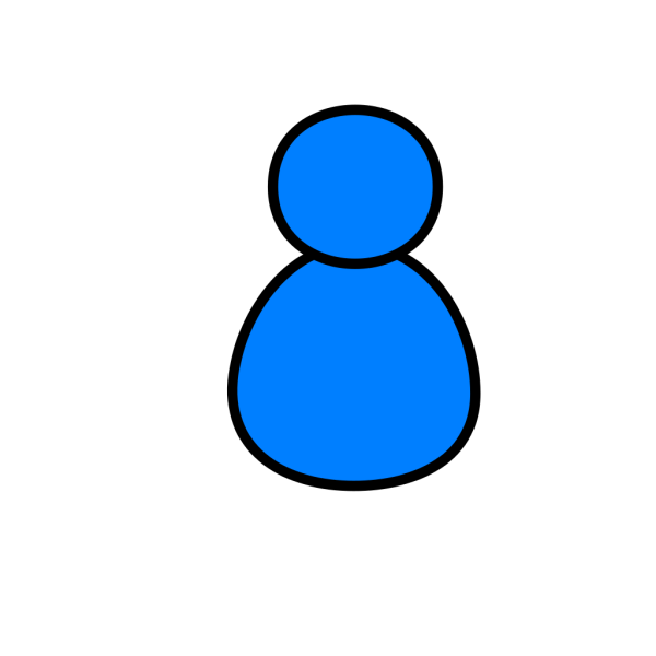 Blue User PNG icon