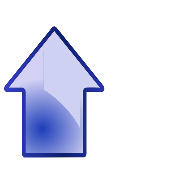 Big Blue Up Arrow PNG Clip art