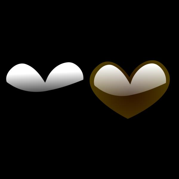 Blue Black Hearts PNG Clip art