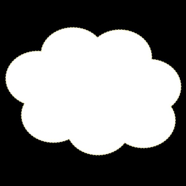 Blue Cloud Button PNG Clip art