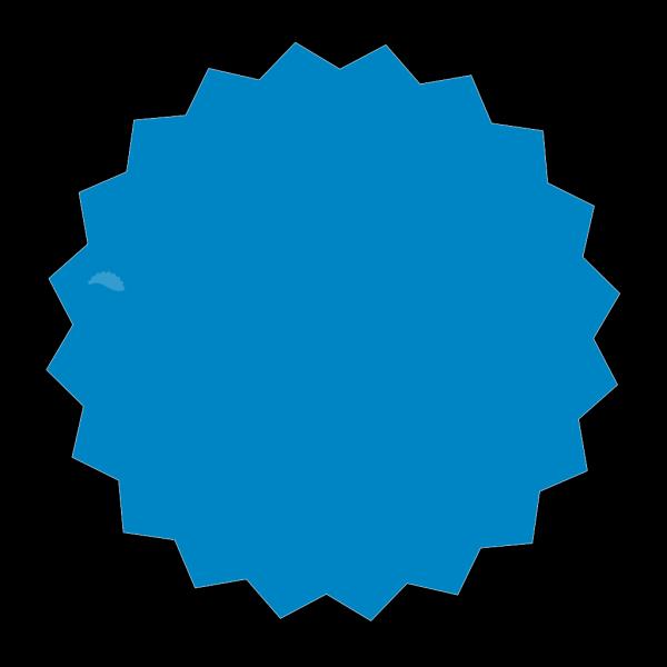 Blue Sticker PNG Clip art