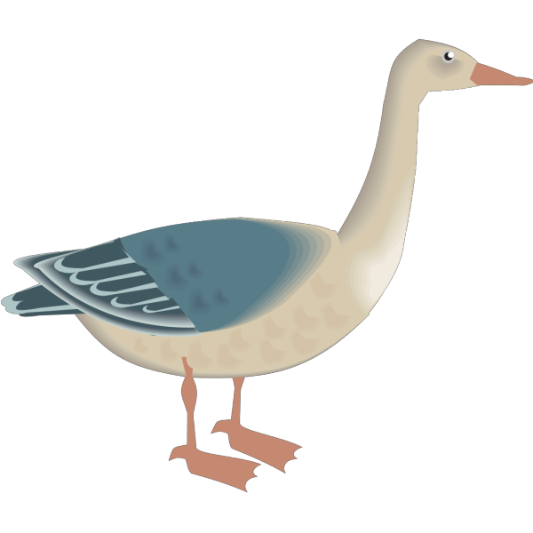 Standing Digital Goose PNG images