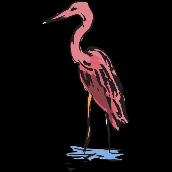 Pink Crane PNG Clip art