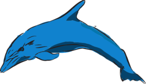 Blue Leaping Dolphin PNG Clip art