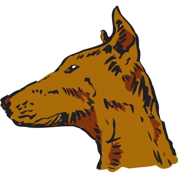Dog Head Side View PNG Clip art