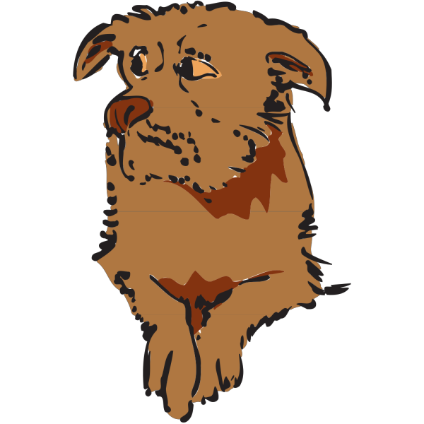 Cautious Dog PNG Clip art