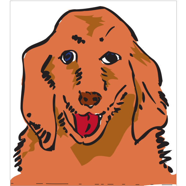 Silly Panting Dog PNG Clip art