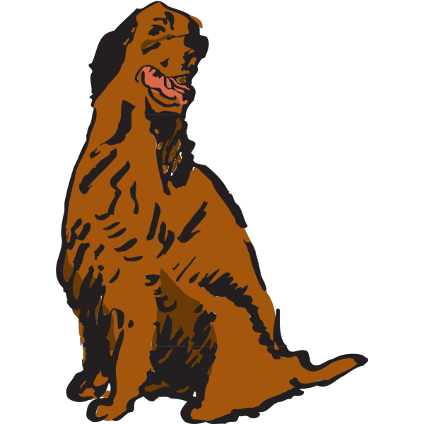 Sitting And Panting Dog PNG Clip art