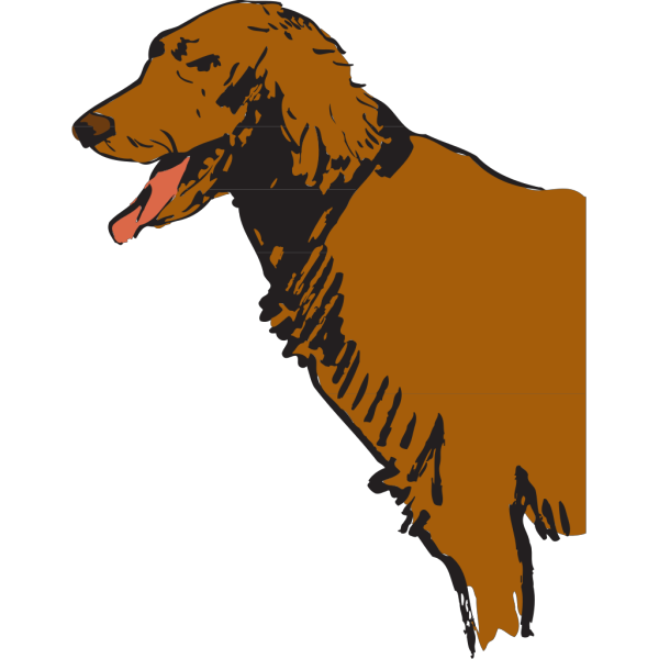 Furry Panting Dog PNG Clip art