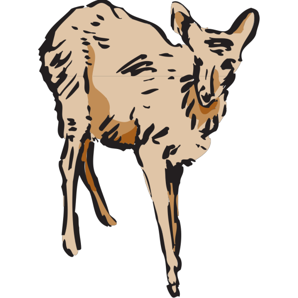 Walking Deer Art PNG Clip art