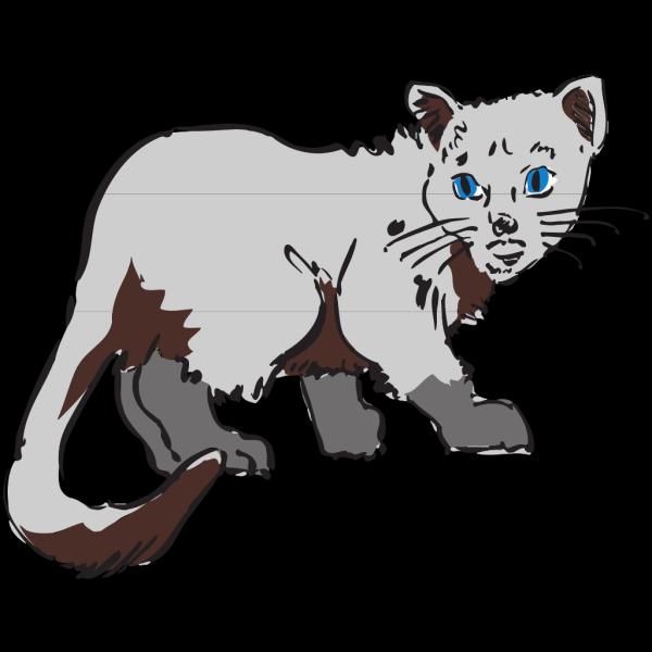 Gray Cat PNG Clip art
