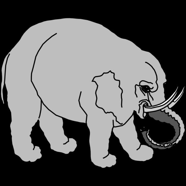 Elephant Filled PNG Clip art
