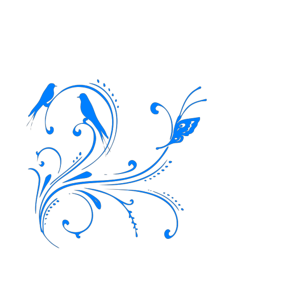 Blue and White Swimming Duck PNG Clip art