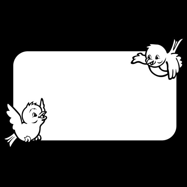 Bird Frame PNG Clip art