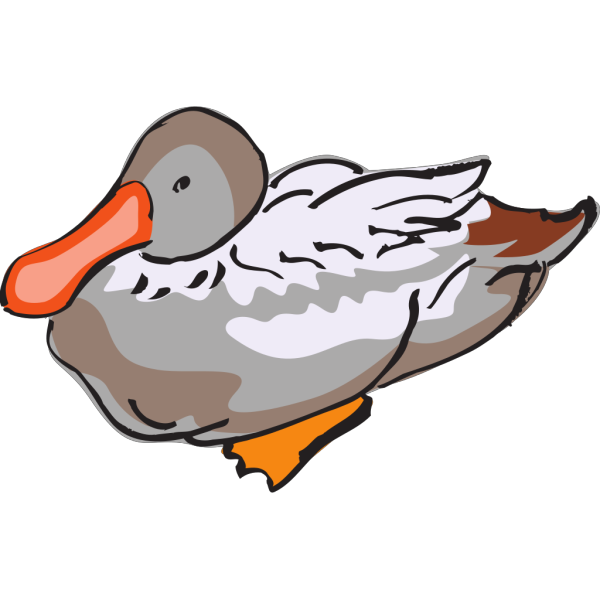 Gray And Brown Duck Art PNG Clip art