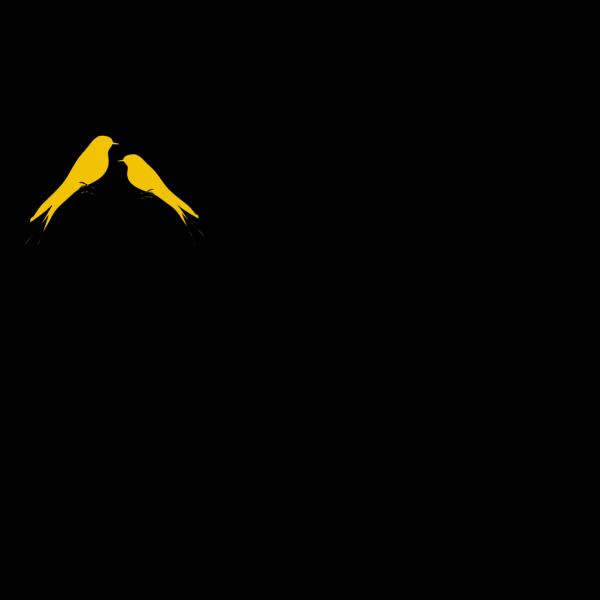 Black Birds On A Branch 2 PNG Clip art