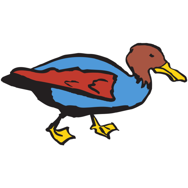 Walking Duck Art PNG Clip art