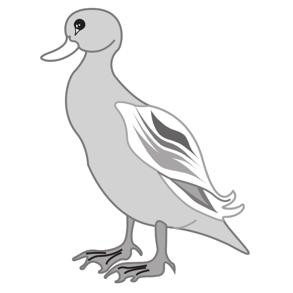 Gray Digital Art Duck PNG images