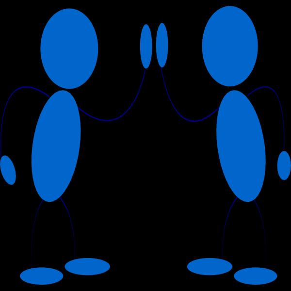 Blue Men Hi5 PNG Clip art
