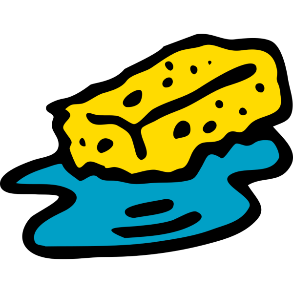 Sponge In Water PNG Clip art