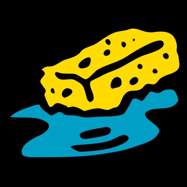 Sponge In Water PNG Clip art