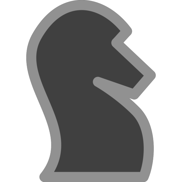 Chess Knight Black PNG icons