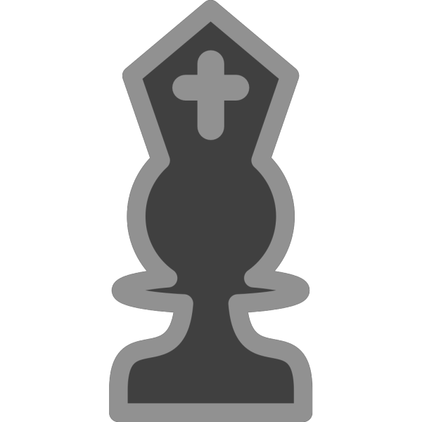 Chess Bishop Black PNG images