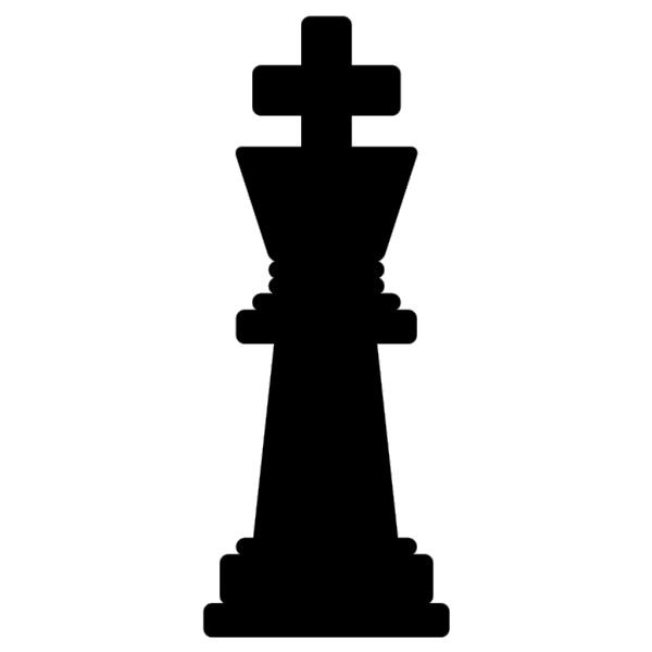 Chess King Black PNG icon
