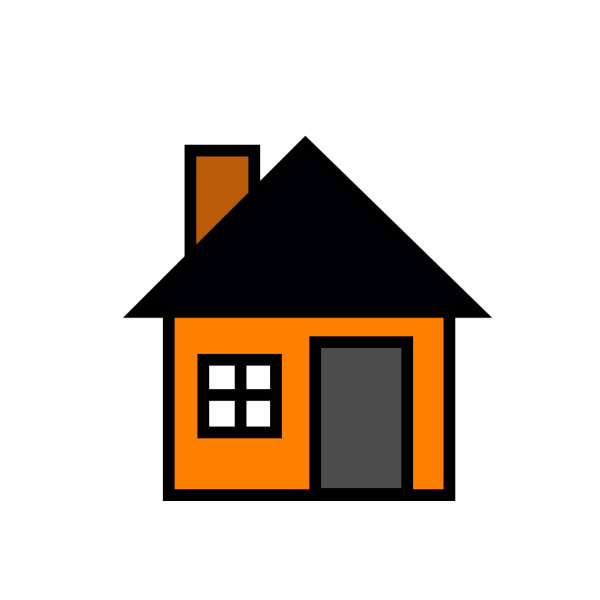 Orange House PNG Clip art