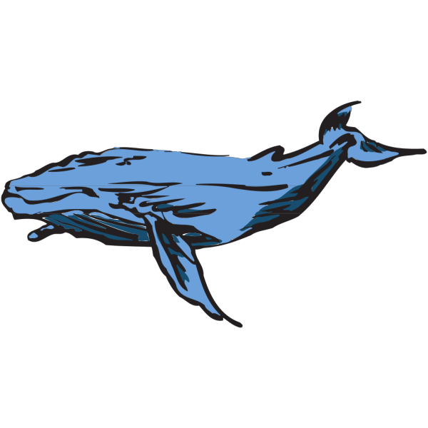 Swimming Whale Art PNG Clip art
