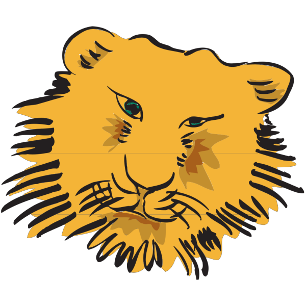 Tiger Face Art PNG Clip art