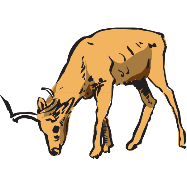 Antelope Eating PNG Clip art