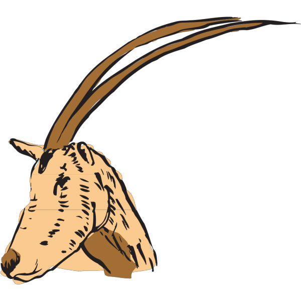 Long Horned Antelope PNG images