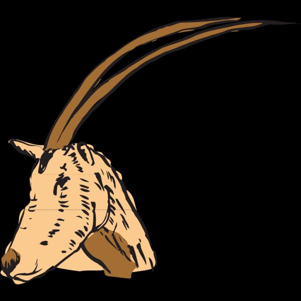 Long Horned Antelope PNG Clip art