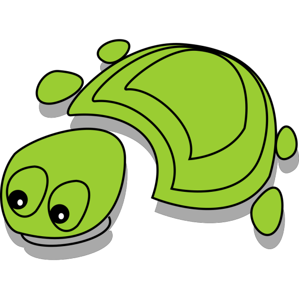Green Tortoise Cartoon PNG Clip art