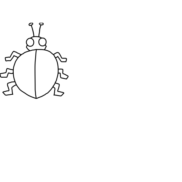 Ladybird With No Spots PNG Clip art