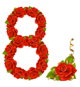 8 March PNG Pic PNG Clip art
