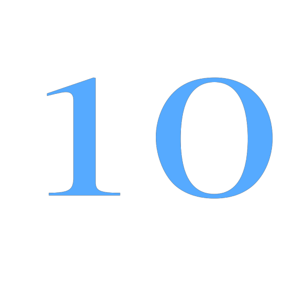 10 Countdown PNG icons