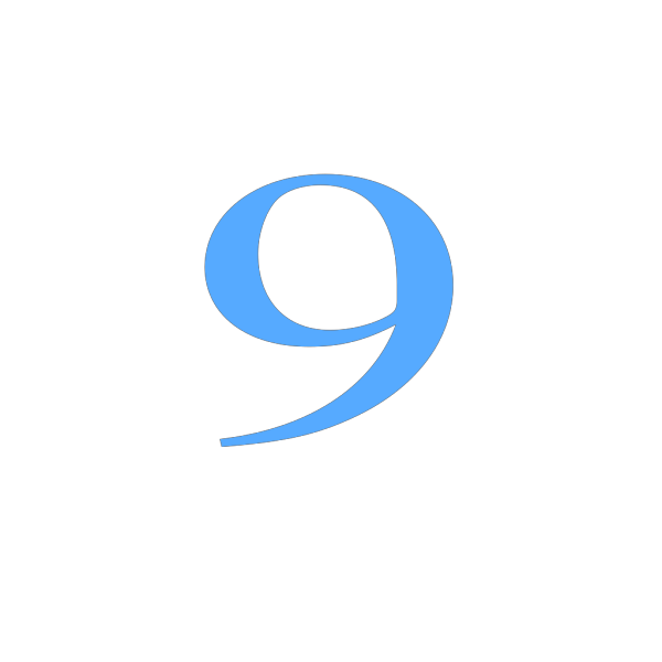 9 Countdown PNG images