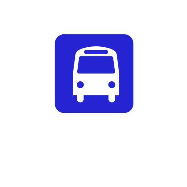 Bus Stop Sign Blue PNG images